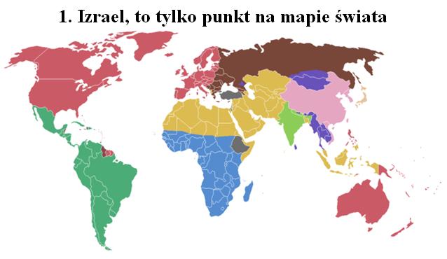 Izrael na mapie swiata