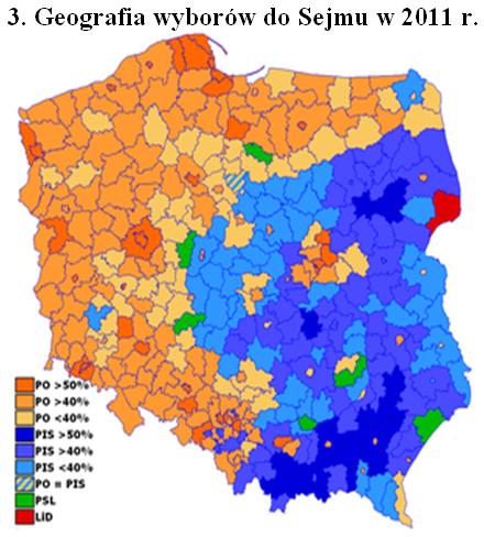 Geografia Wyborow do Sejmu