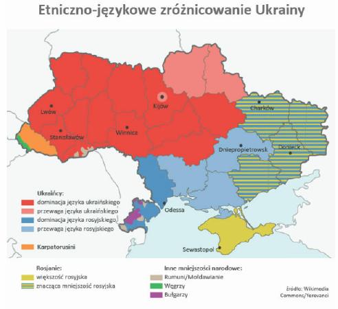 Etniczno-jezykowe zroznicowanie Ukrainy