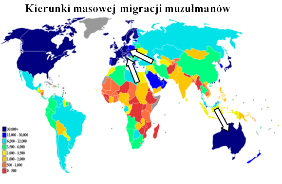 Kierunki migracji muzulmanow